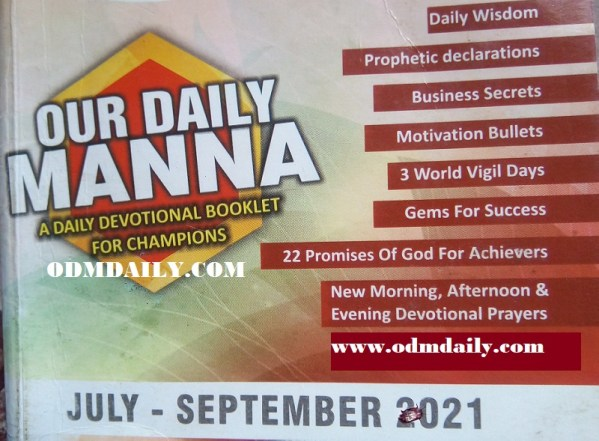 Our Daily Manna ODM 17 August 2021