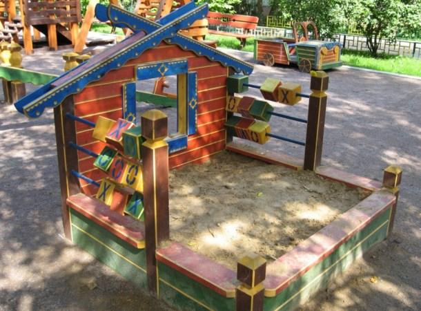 песочница для детской площадки своими руками