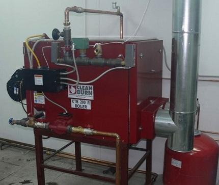 котел на жидком топливе, масло-отработке