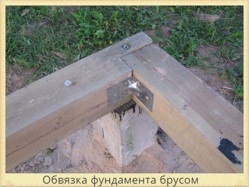 Столбчатый фундамент теплицы