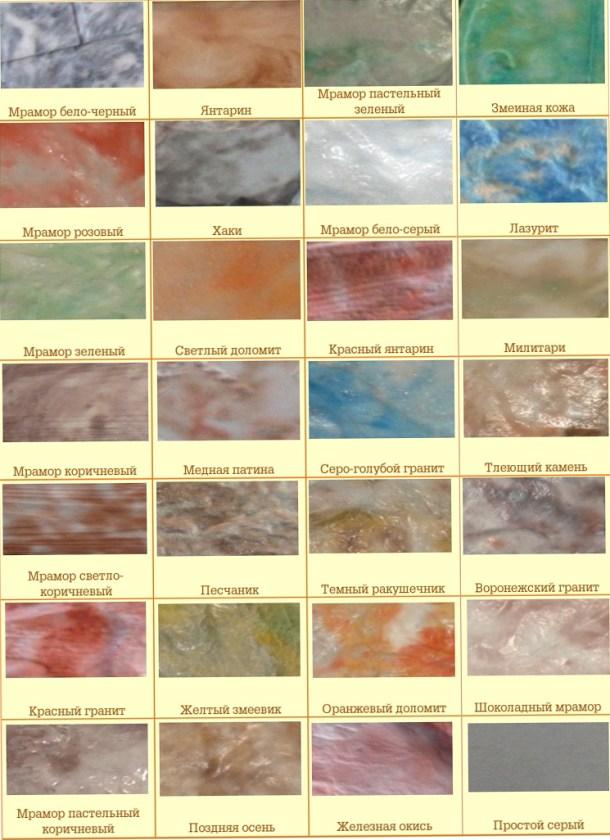 виды поверхностей (фактур) мрамора