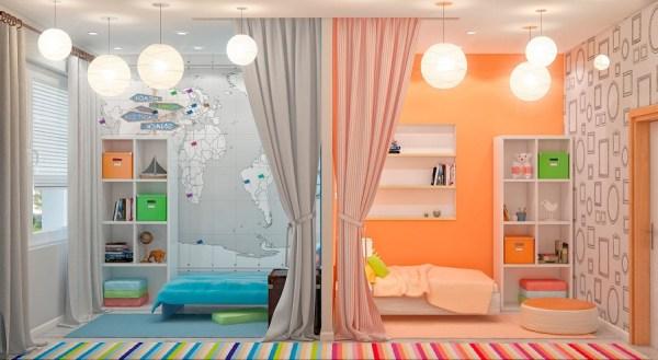 разделение перегородкой комнаты при разнополых детях