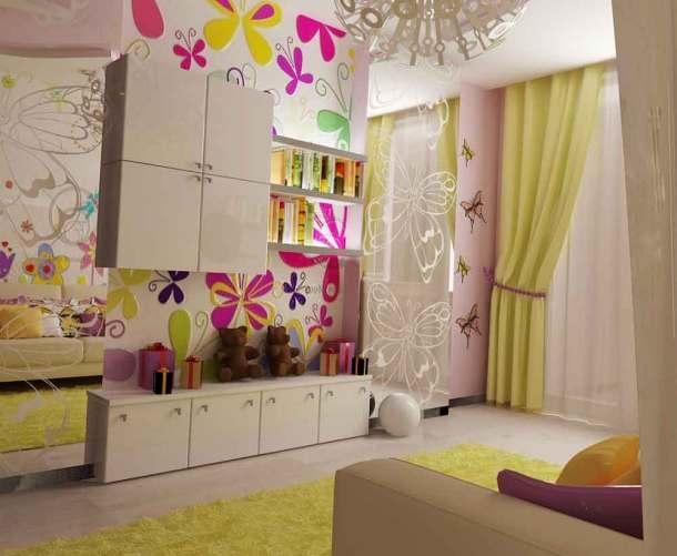 розовая комната ребенка