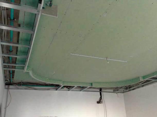 многоуровневые потолки из влагостойкого гипсокартона