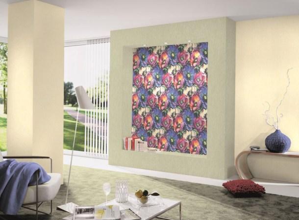 бумажные обои, стильный интерьер дома