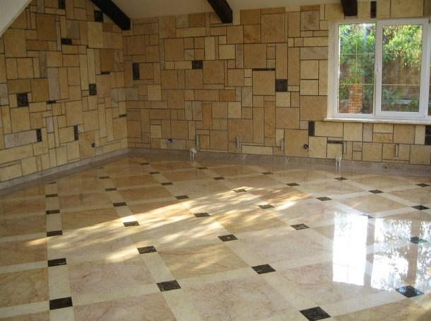 отделка стен и пола керамогранитной плиткой