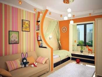 детская комната, перегородка