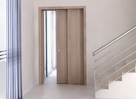 монтаж откатных дверей