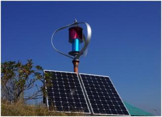 Единая система из солнечных батарей + ветрогенератор