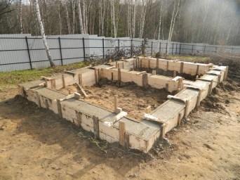 Традиционный ленточный бетонный фундамент под баню