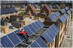 Многоквартирный дом оборудован солнечными батареями