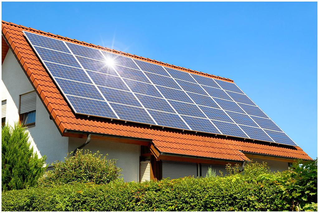солнечная электростанция на крыше дома