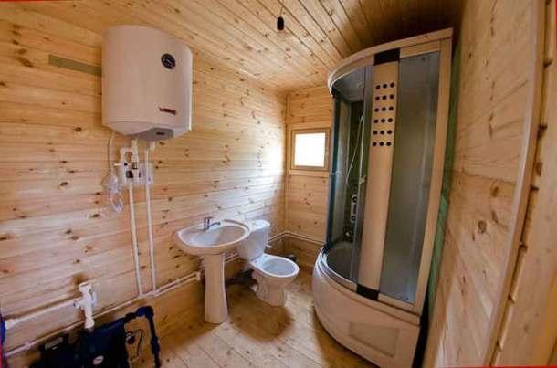 баня с туалетом и душем