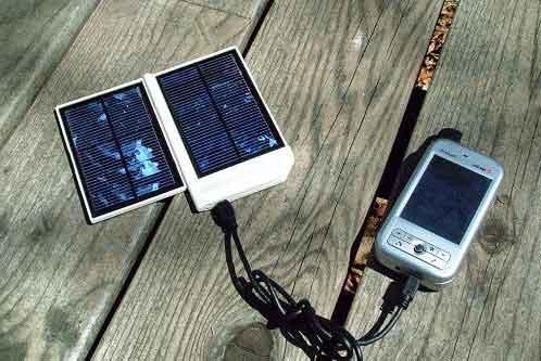 портативная зарядка на солнечных батареях