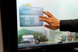 Энергосберегающее окно (прозрачная LCD панель SAMSUNG) с климат-контролем