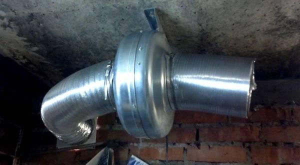 приточная вентиляция в гараже, вентилятор