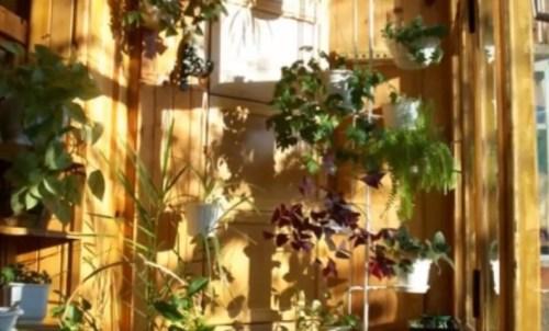 балкон - облицовка стен вагонкой