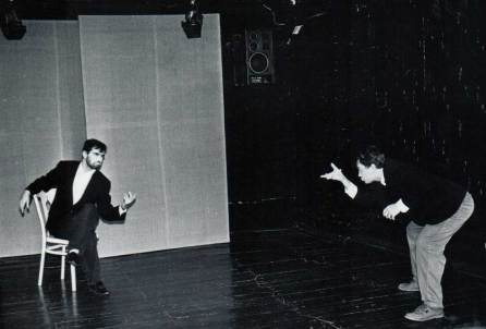 Евгений Сытый и я на сцене театра «Ложа».