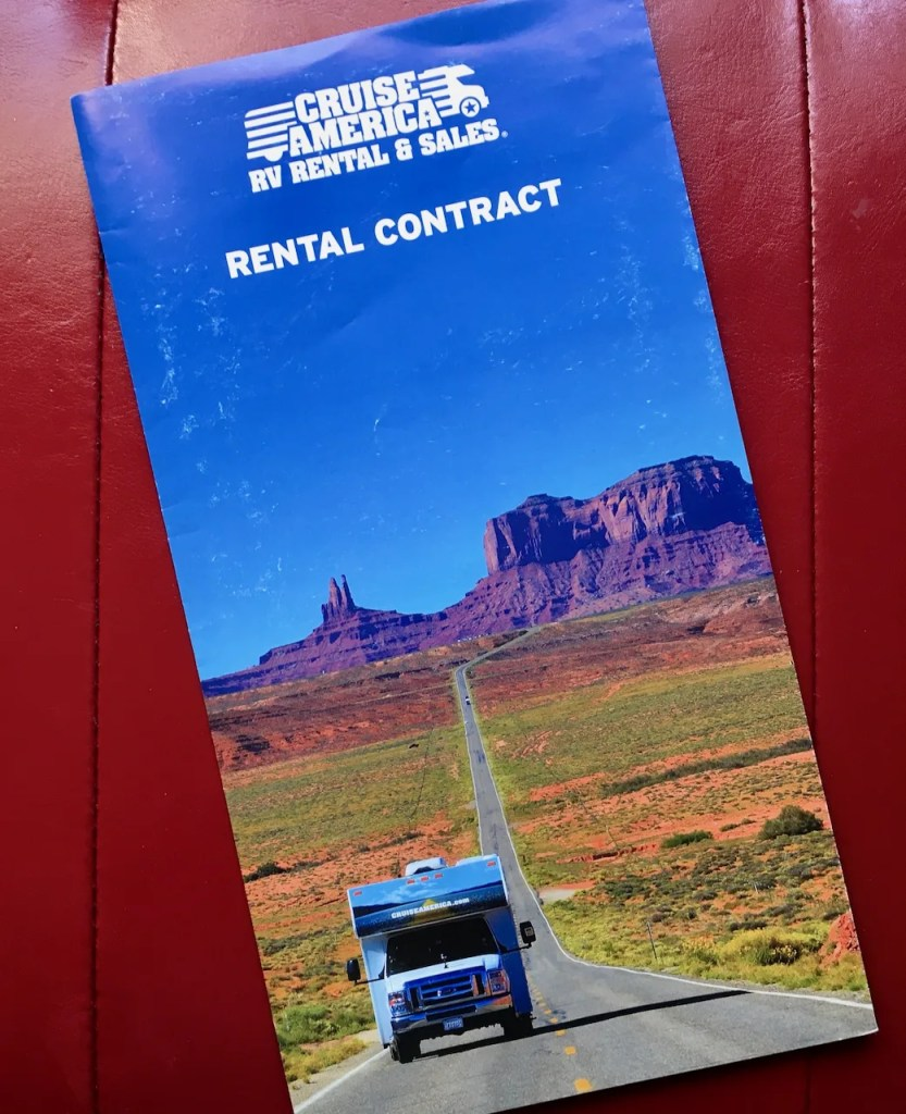 Cruise America Rental Contract cover image