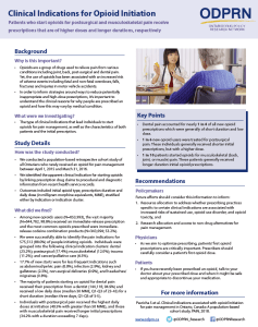 RM ClinicalIndicationsforOpioidInitiation