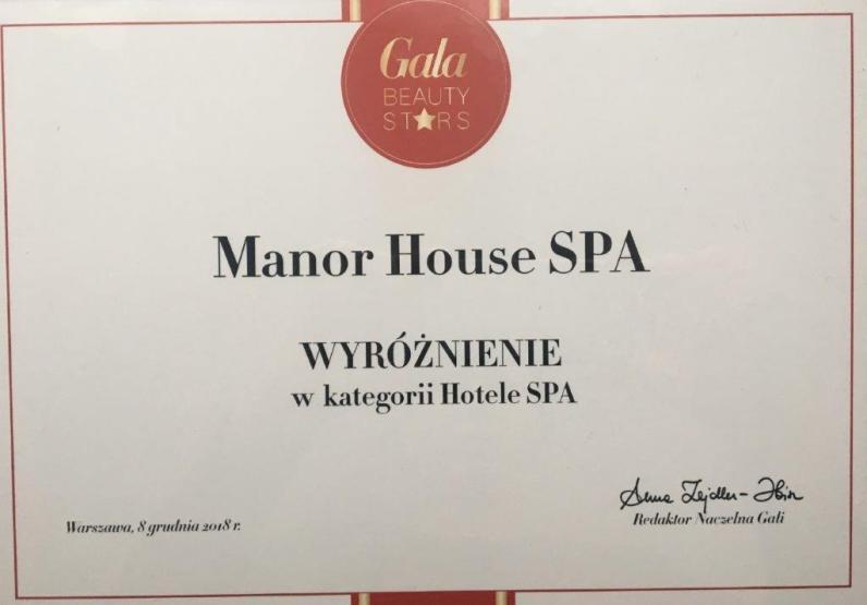 Wyróżnienie dla Manor House SPA_Gala Beauty Stars 2018