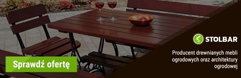 drewniane meble ogrodowe stolbar