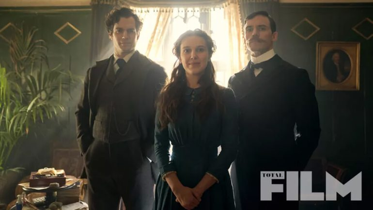 Cavill, Brown and Clafin in ENOLA HOLMES