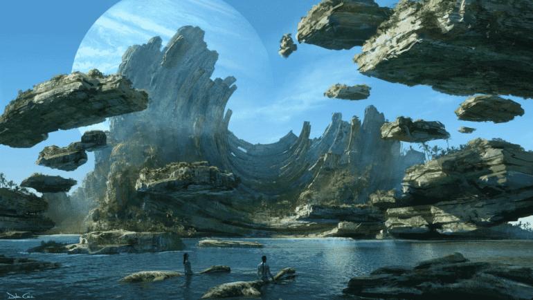 Concept art for Pandora in AVATAR 2