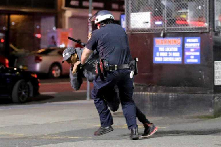 Police, FDNY monitor looting, fire on Fordham Road