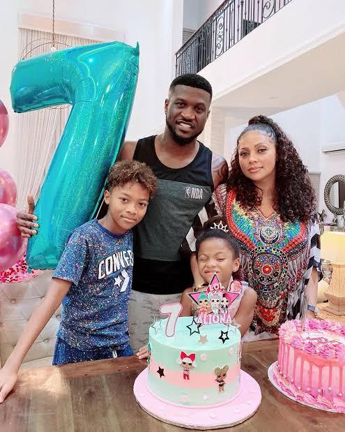 Peter Okoye and his family