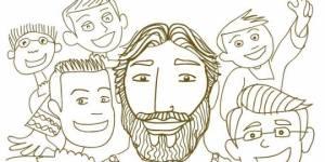 imagen jesus con niños