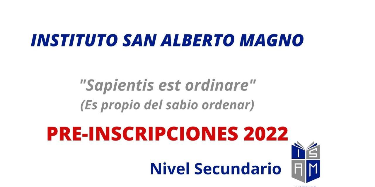 Instituto San Alberto Magno – Inscripciones abiertas