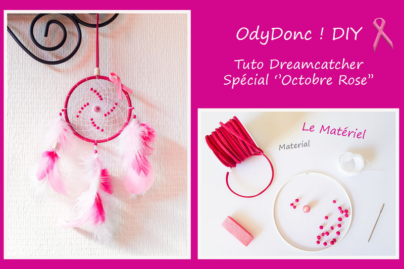 diy dreamcatcher octobre rose