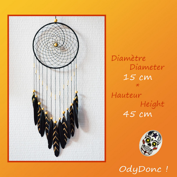 Attrape Rêves Dreamcatcher Fêtes Dorées Mobile Amérindien Suspension Murale