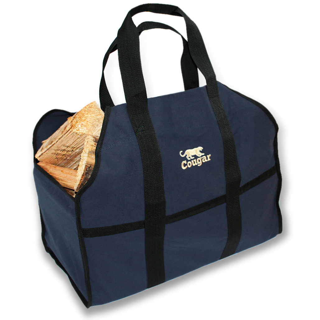 cougar premium log carrier wood tote bag