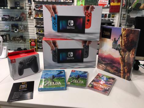 Nintendo Switch + Zelda, Gamecash Cherbourg, L'Odyssée du Jeu Vidéo 2017 #ODJV