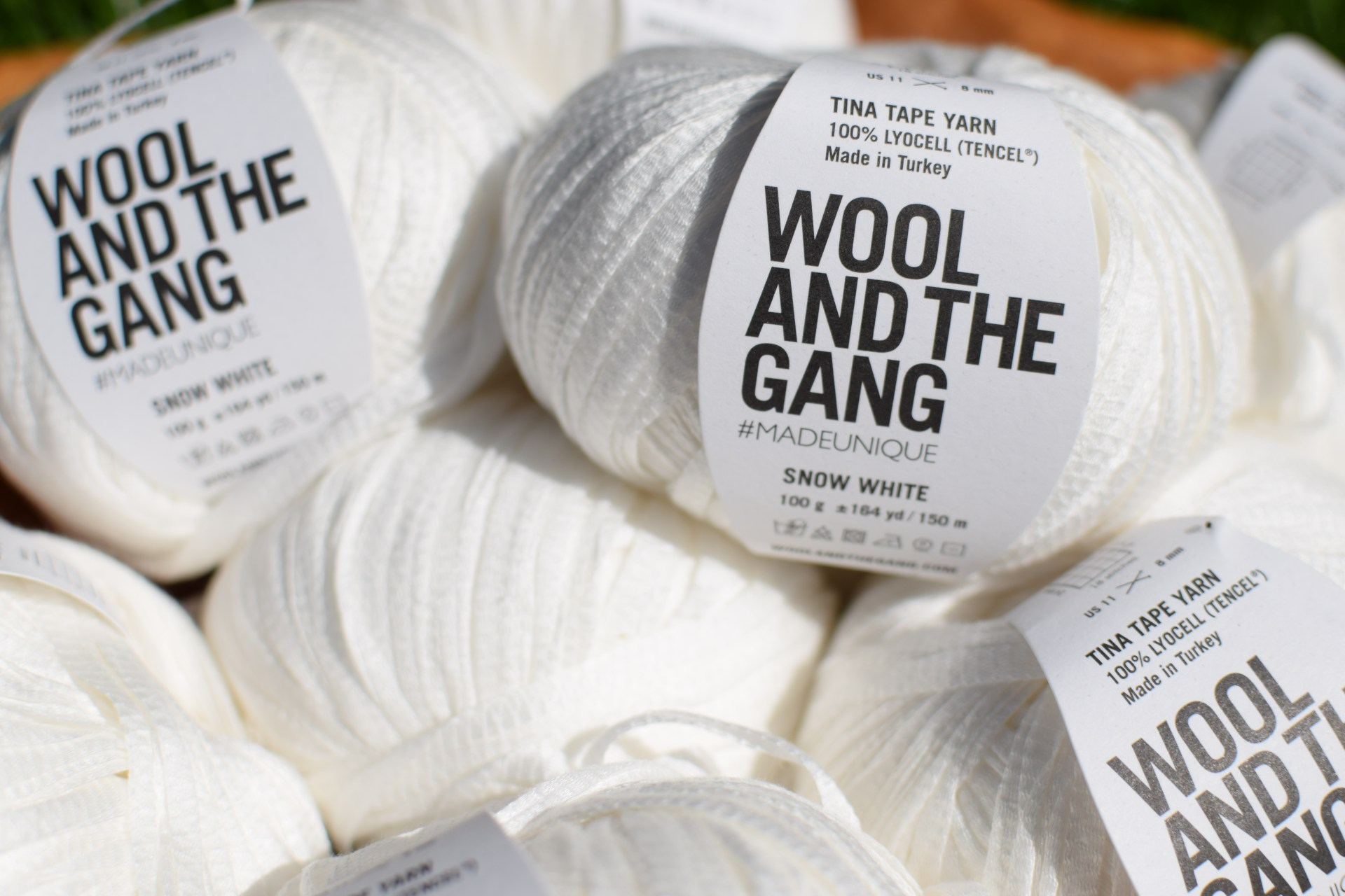 Wool & The Gang Tina Tape White Yarn 06/15/2017 - 57