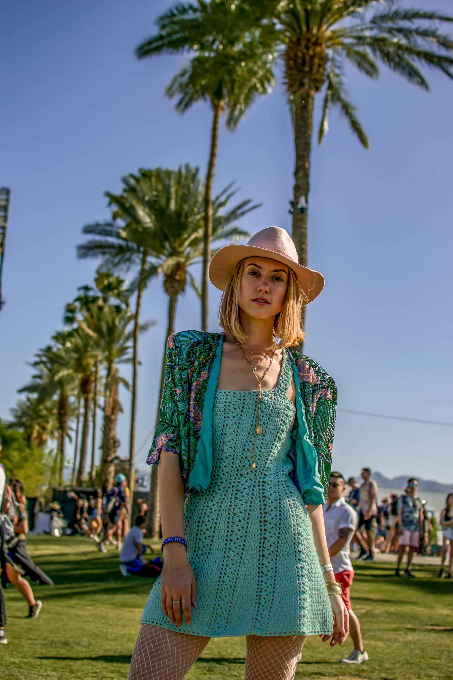 Odyssey Designs Feelin Blue Crochet Dress Coachella-5
