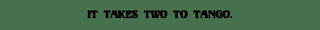Title- It Takes Two