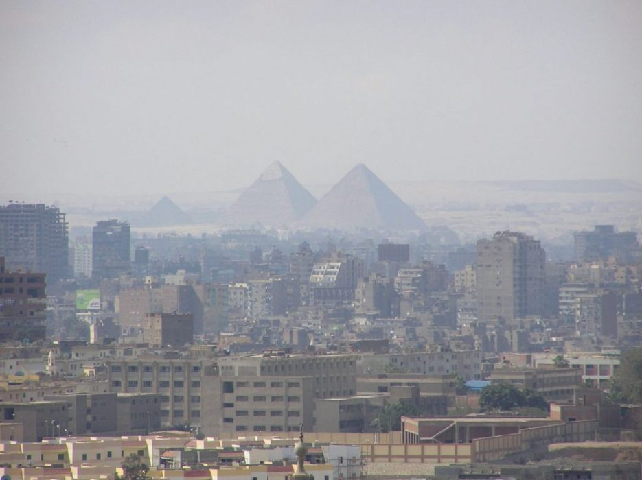 our first sight of the pyramids