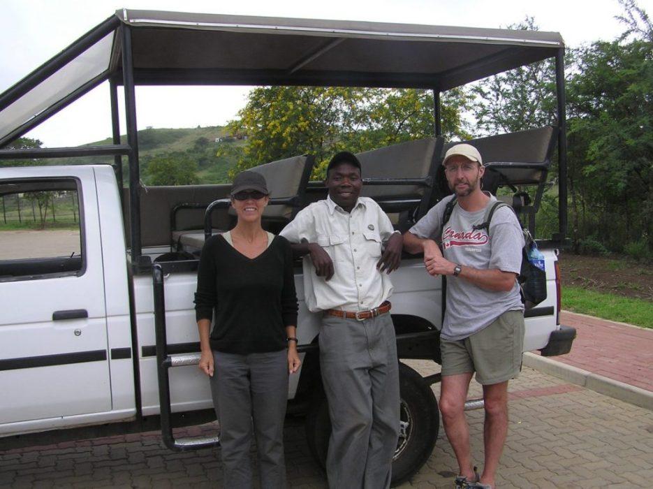 on safari with Temba