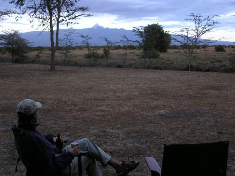 good view of Mt. Kenya