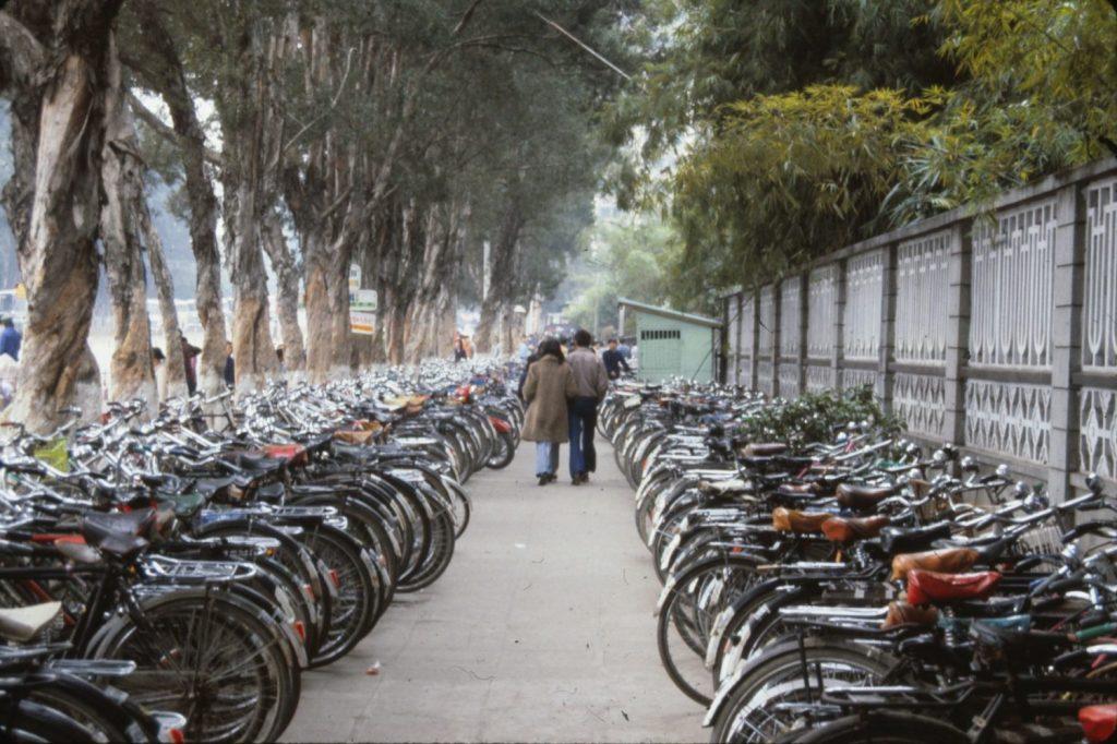 bikes as far as the eye can see