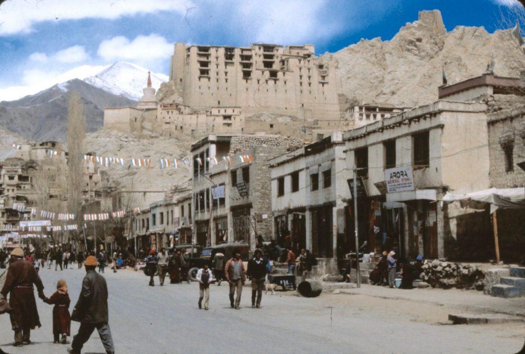Leh monastery in the background