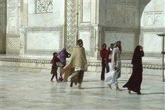 Taj Mahal visitors