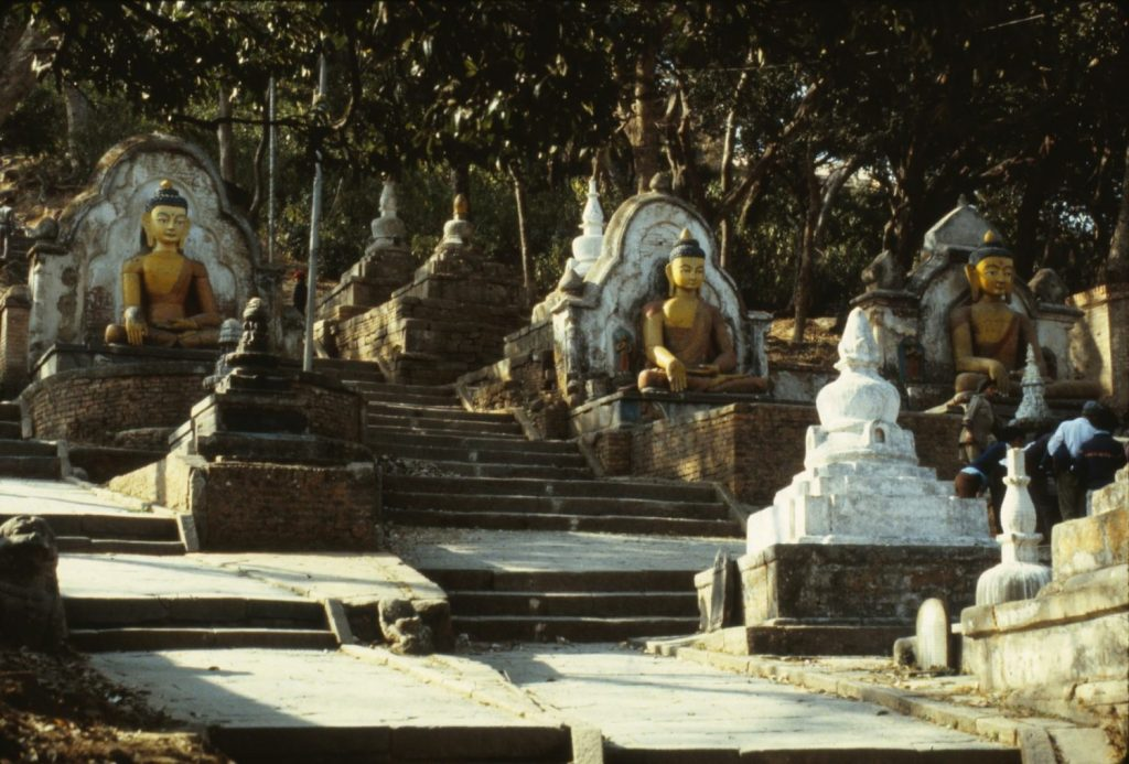 hike up to Swayambhunath