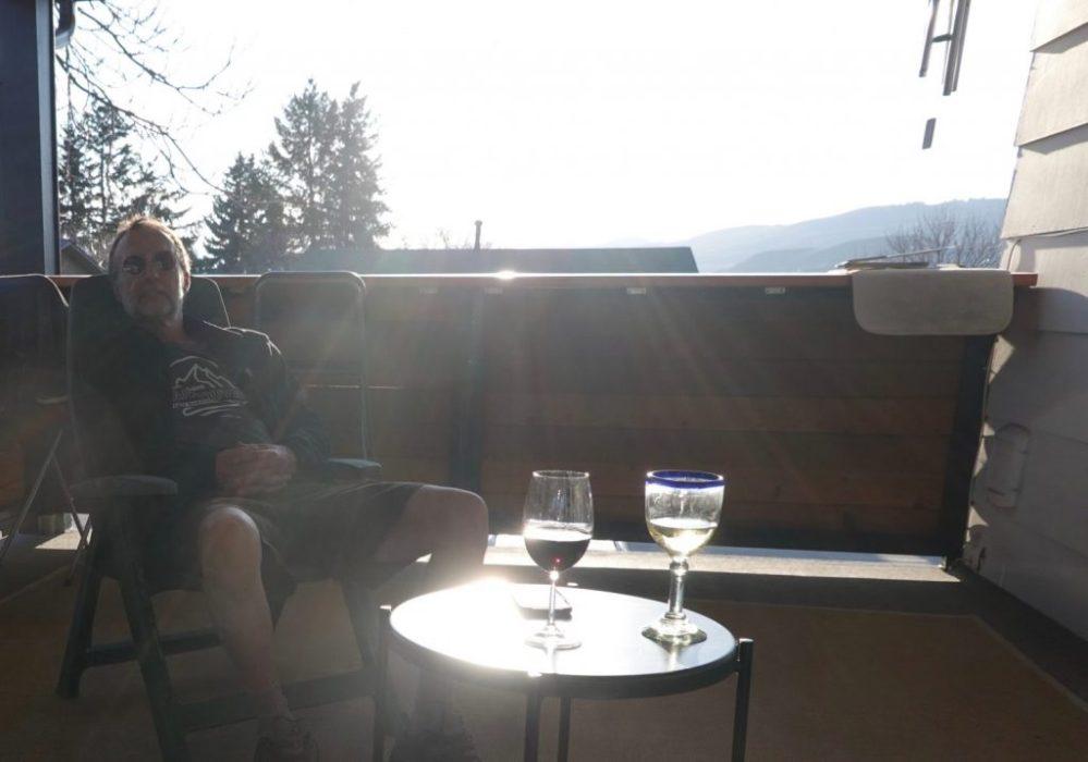sundown on the deck