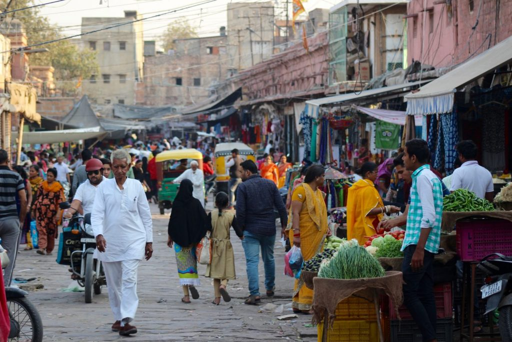 the market outside our haveli