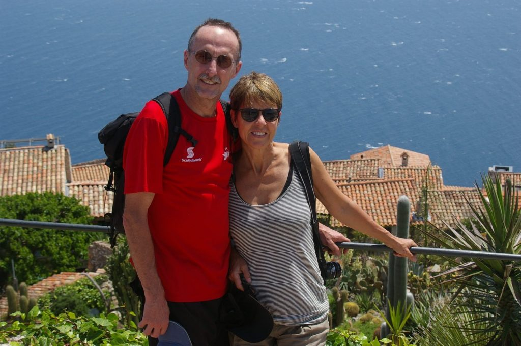 hiking up to Eze