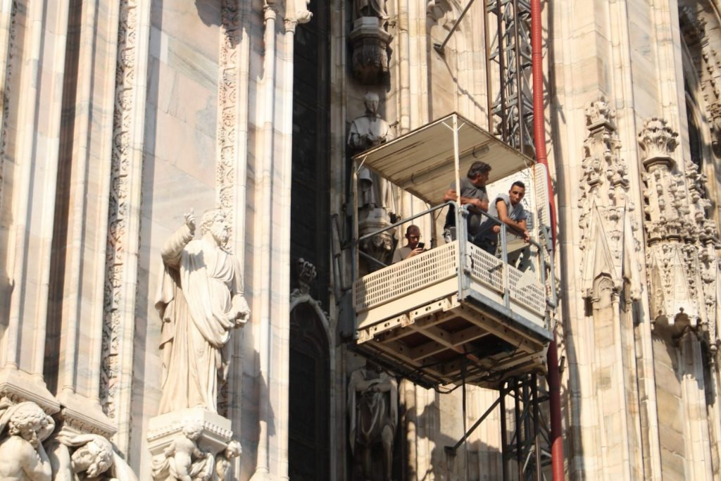 they'd been up top working on restoration